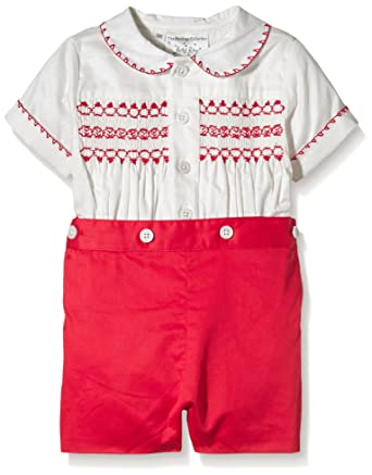 Rachel Riley Baby Boys 0 24m Smocked Clothing Set Red Red Ivy 6