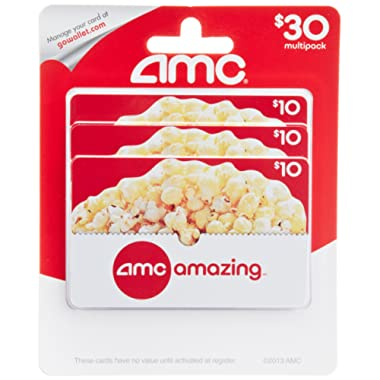 AMC Theatre  Gift Cards, Multipack of 3