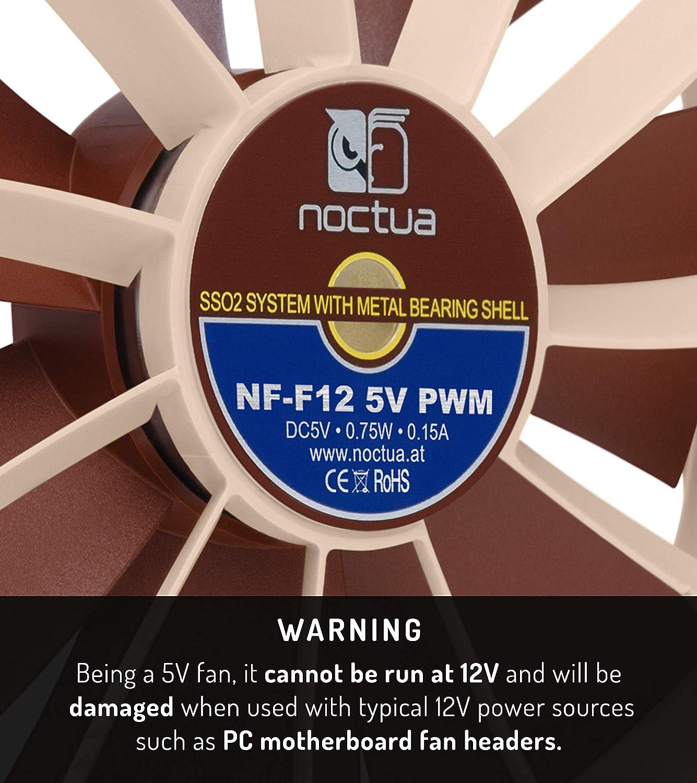 Noctua Nf F12 5v Pwm Leiser Premium Lüfter Mit Usb Computer Zubehör
