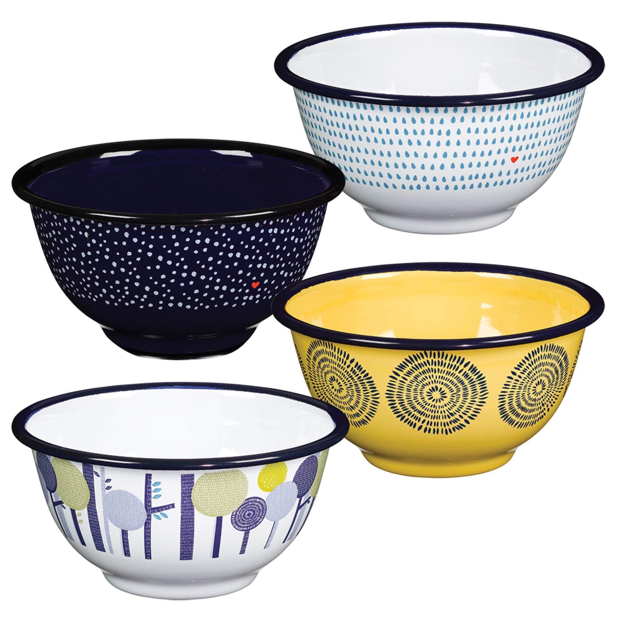 Folklore Enamel Bowls, Seasons Designs (Set of 4) by Folklore (Image #3)