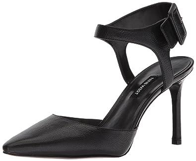 Amazon.com   Nine West Women s ELISABETI Leather Heeled Sandal ... 8fa7a6e176