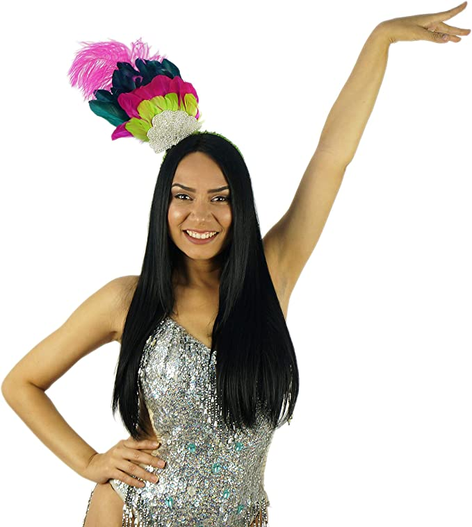 Amazon.com: Diadema de plumas de carnaval, disfraz de Samba ...