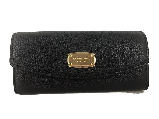 315e6e28c39b3 Amazon.com  Michael Kors Fulton Slim Flap Black Pebbled Leather ...