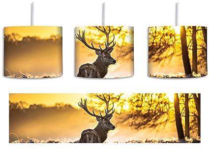Lámpara de techo con diseño de ciervo en el bosque, incluye ...