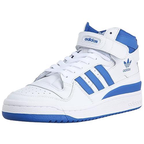 adidas Originals FORUM Mid Zapatillas de hombre, blanco (blanc/bleu/blanc), 42 EU: Amazon.es: Zapatos y complementos