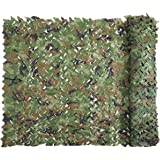 Camouflage Netting Camo Net Military Nets Lightweight Durable without Grid for Sunshade Decoration Hunting Blind Shooting