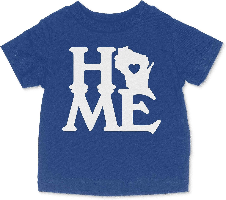 HARD EDGE DESIGN Baby's Wisconsin Home State Heart Block Bodysuit