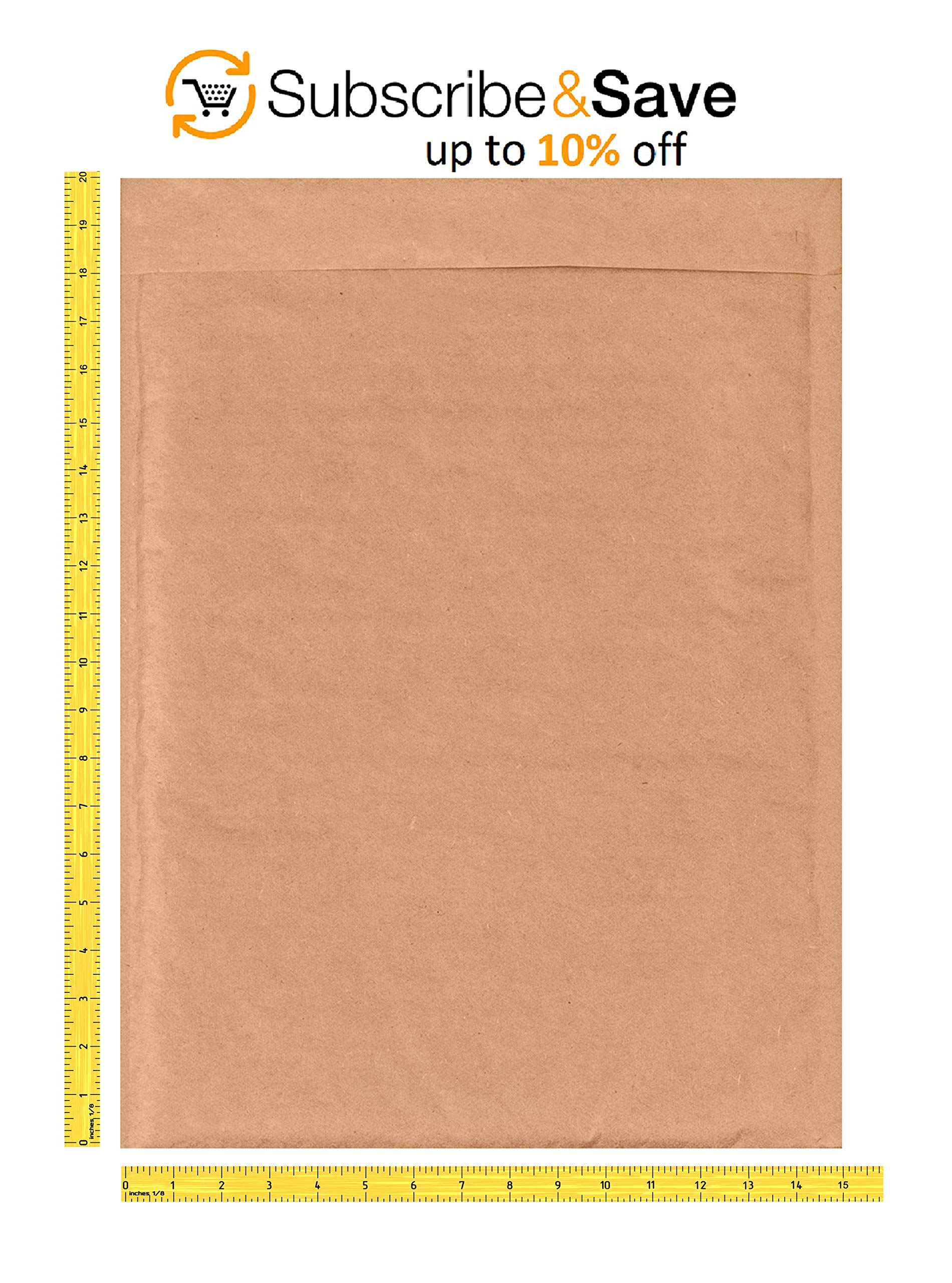 AMIFF Natural Kraft bubble mailers 14 x 20 Brown Padded envelopes 14 x 20 by Amiff. Pack of 10 Kraft Paper cushion envelopes. Exterior size 15 x 20 (15 x 20). Peel and Seal. Mailing, shipping. by Amiff (Image #3)