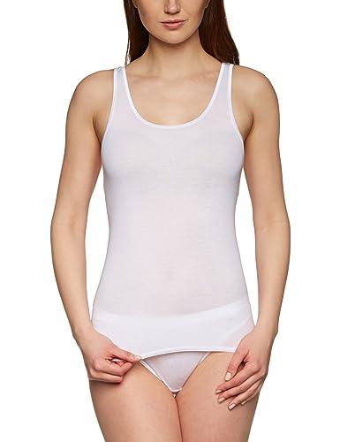 Huber - Camiseta interior sin mangas para mujer