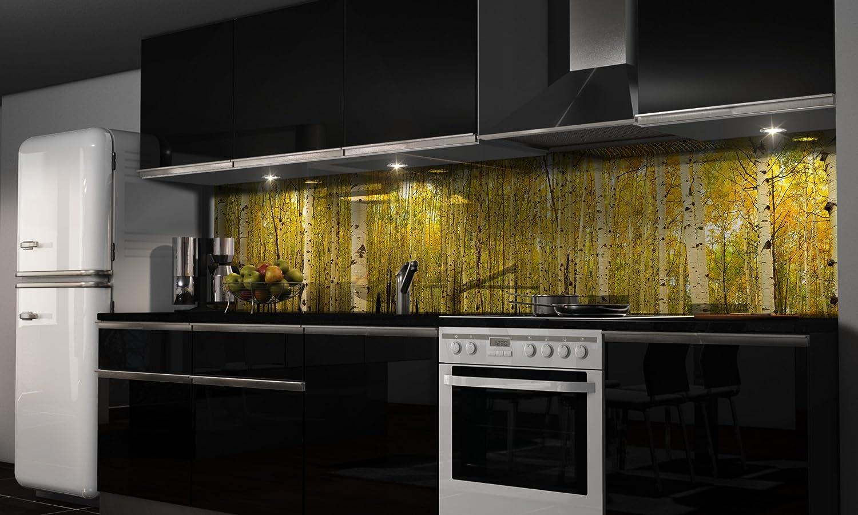 Küchenrückwand-Folie Wald voller Bäume Klebefolie Spritzschutz Küche ...