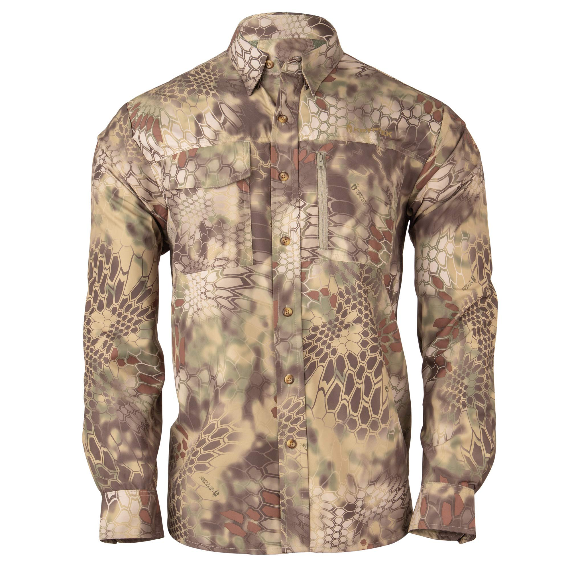 Kryptek Adventure 3 Long Sleeve Camo Hunting Shirt (Valhalla Collection), Mandrake, L by Kryptek