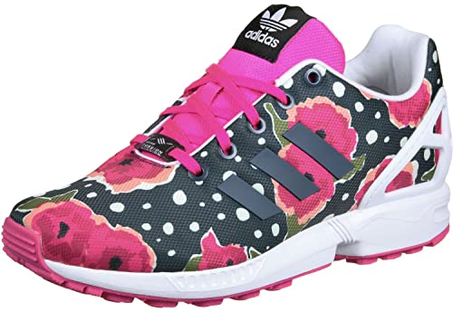 adidas - ZX Flux J - S76290 - Colore: Bianco-Rosa-Nero -