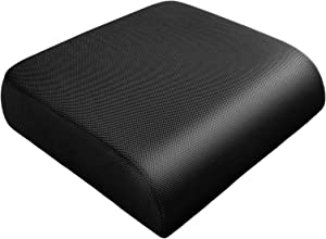 YOUFI Extra Thick Large Seat Cushion -19 X 17.5 X 4 Inch Gel Memory Foam Cushion with Carry Handle Non Slip Bottom - Pain Relief Coccyx Cushion for Wheelchair Office Chair (Black (1PACK))