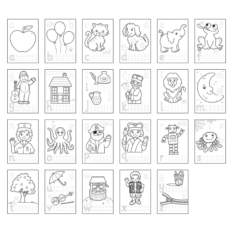 Orchard Toys Libro Da Colorare Motivo Lettere Dellalfabeto