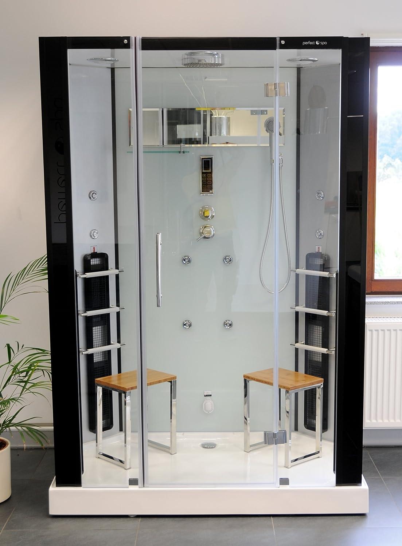 infrarotdampfdusche naxos infrarotkabine infrarot dampfdusche dampf sauna dusche wrmekabine amazonde kche haushalt - Infrarotkabine Kombiniert Mit Dusche