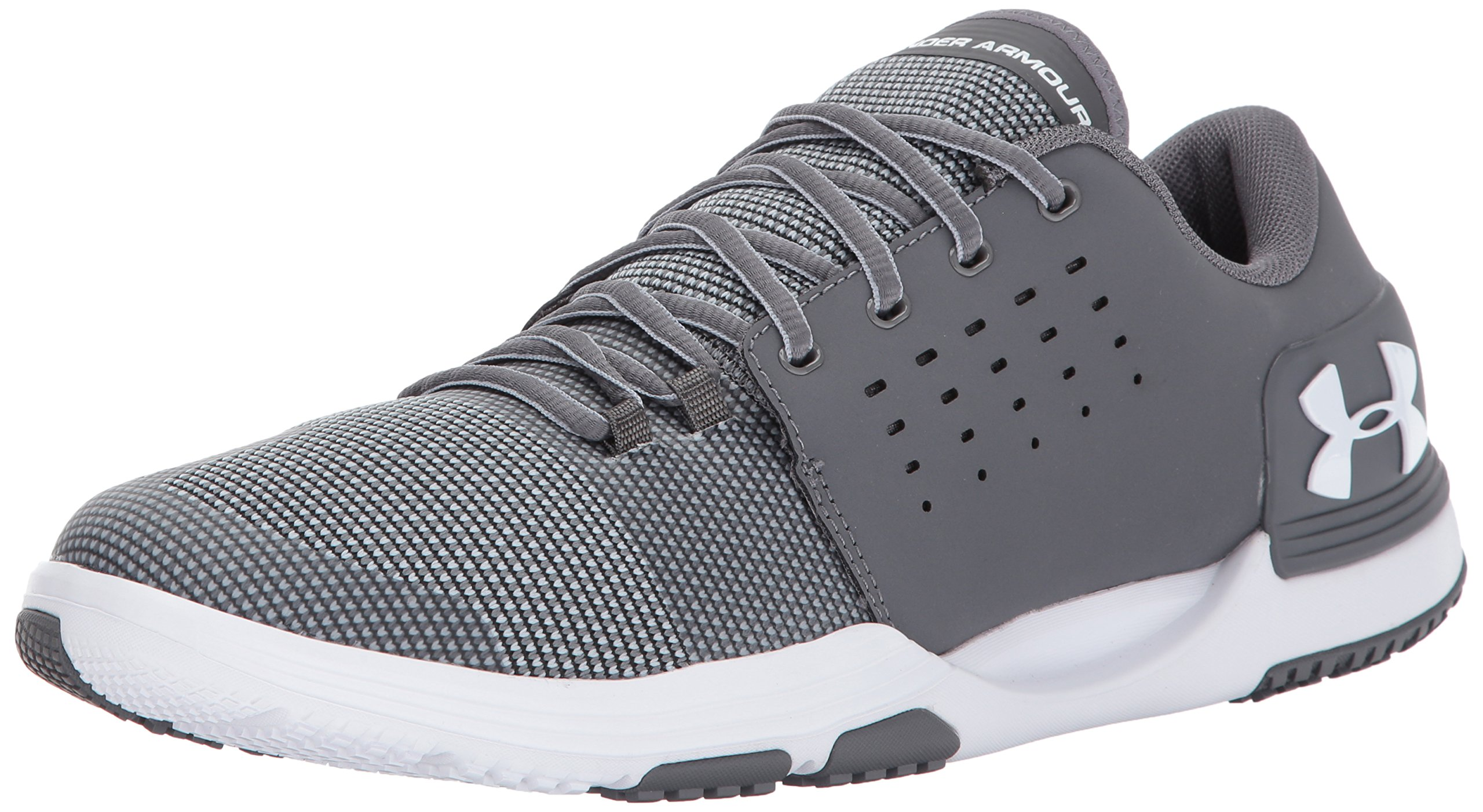 Under Armour Men's Limitless 3 Sneaker, Graphite (101)/White, 11 by Under Armour
