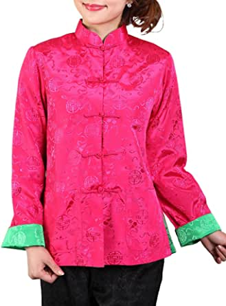 Bitablue Womens Auspicious Reversible Chinese Shirt