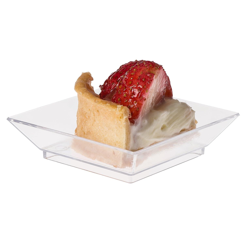 Amazon.com Prextex Mini Dessert Plates 2.5 x2.5  - 100 Sturdy Square Clear Mini Plastic Dessert Plates Kitchen u0026 Dining  sc 1 st  Amazon.com & Amazon.com: Prextex Mini Dessert Plates 2.5