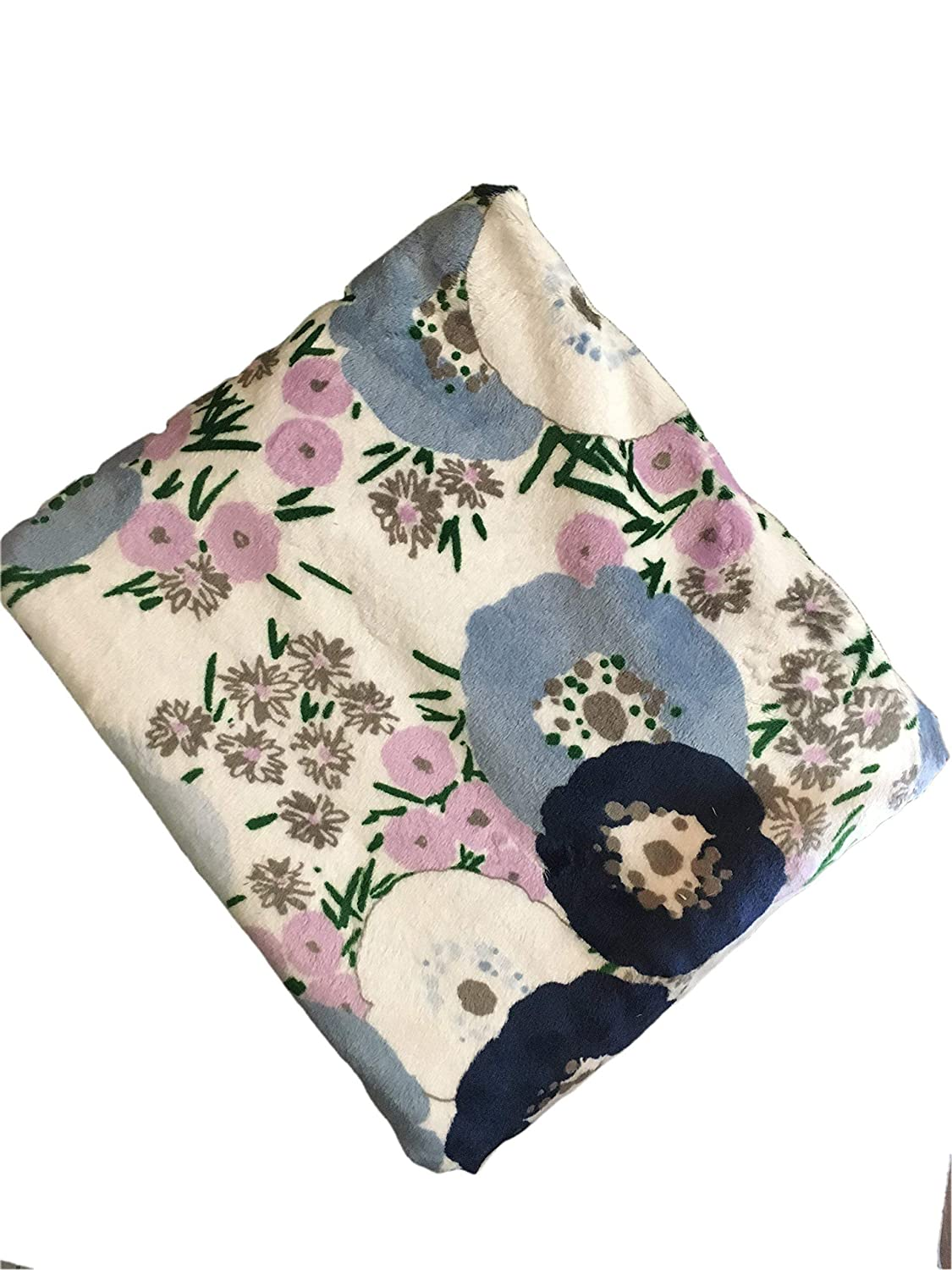 Floral Minky Throw Blanket Bluebell Flower Adult 50 x 58 inch Throw Blanket