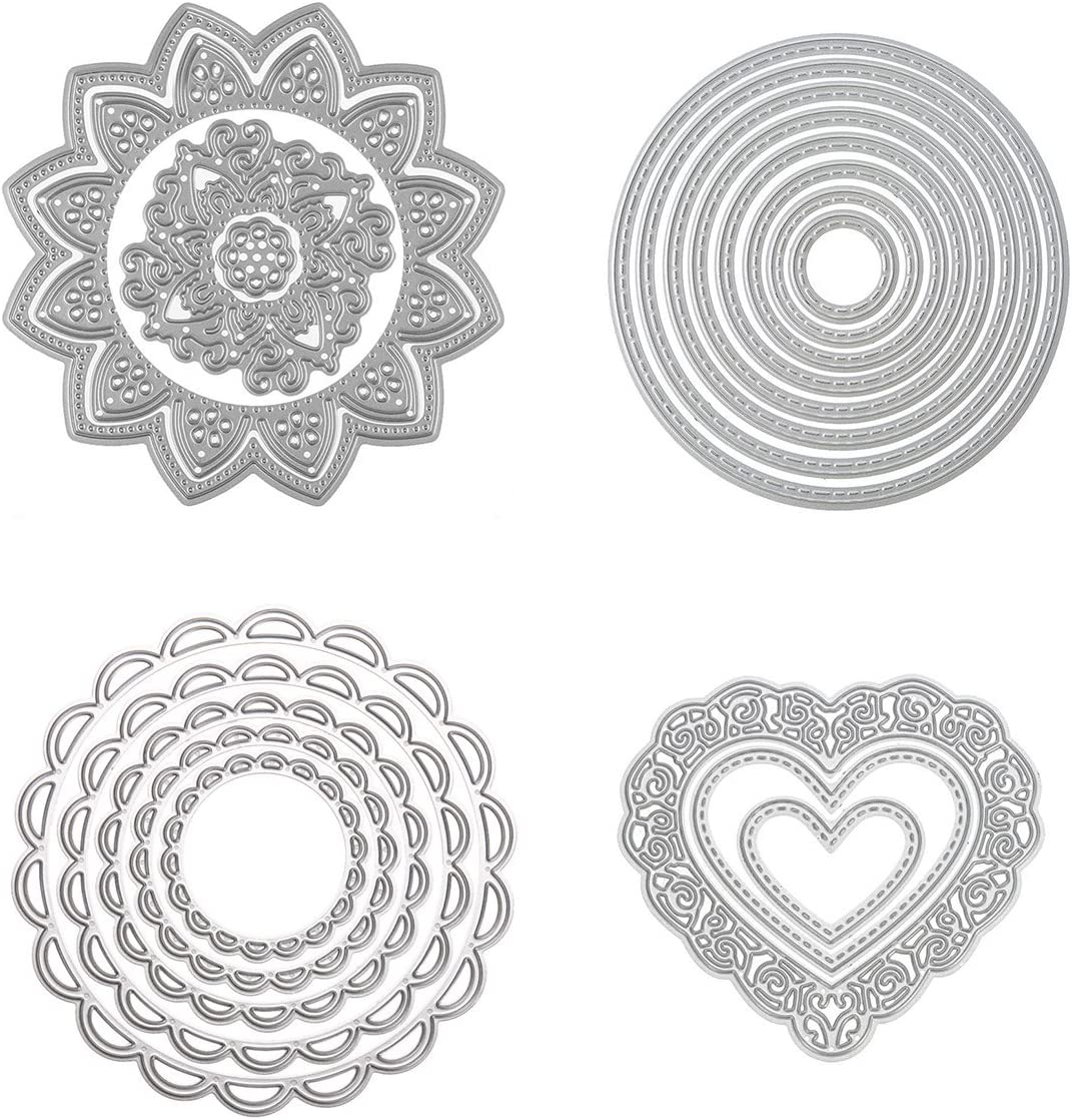 Love Hearts Border Metal Cutting Dies Scrapbooking Paper Cards Making decoration