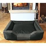BedDog Hundebett BRUNO / großes Hundekörbchen aus Cordura / waschbares Hundebett vier-eckig mit Rand / Hundesofa für drinnen und draußen