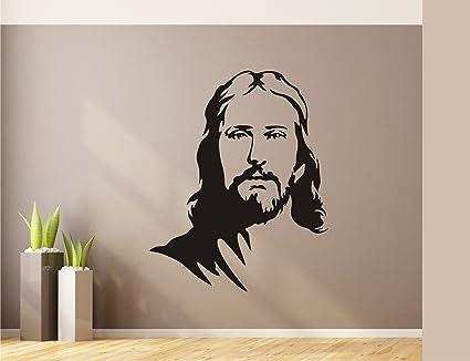 Heaven Decors Jesus Wall Sticker And Wallpaper Vinyl Black 47x59cm