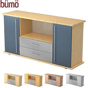 Bumo Buro Sideboard Buroschrank Mit Stauraum Fur Ordner Bucher