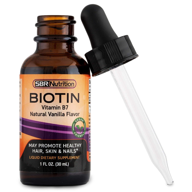 SBR Nutrition, Liquid Biotin, Made in USA, gotas para mejorar la salud del cabello, las uñas y la piel: Amazon.es: Salud y cuidado personal