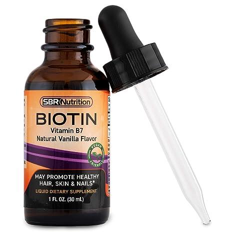 SBR Nutrition, Liquid Biotin, Made in USA, gotas para mejorar la salud del cabello, las uñas y la piel