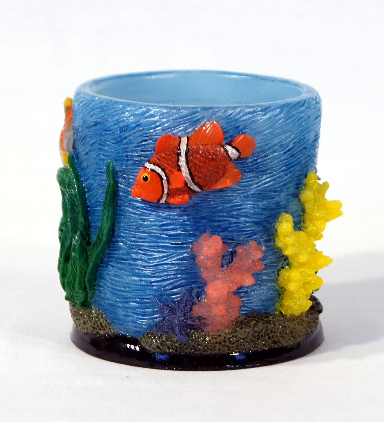 Set of 4 Handpainted Decorative Wax Art Candle Sculpture Figurine Tropical Fish Nemo Fish Total Wax Weight 3.5 Lbs