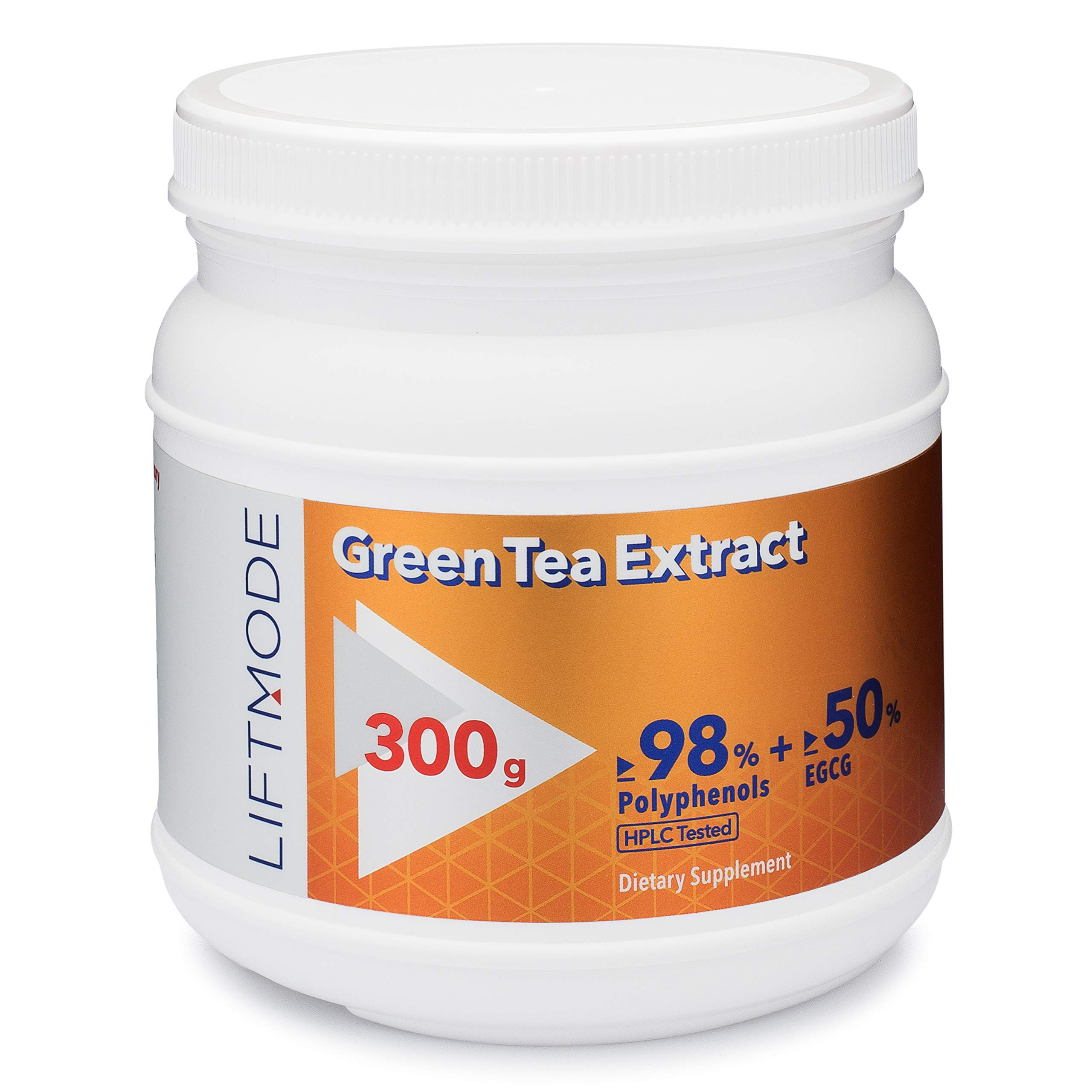 LiftMode Green Tea Extract Pure Bulk Powder Supplement - Natural Fat Burner for Weight Loss, Healthy Heart & Antioxidant | Vegetarian, Vegan, Non-GMO, Gluten Free - 300 Grams (600 Servings)