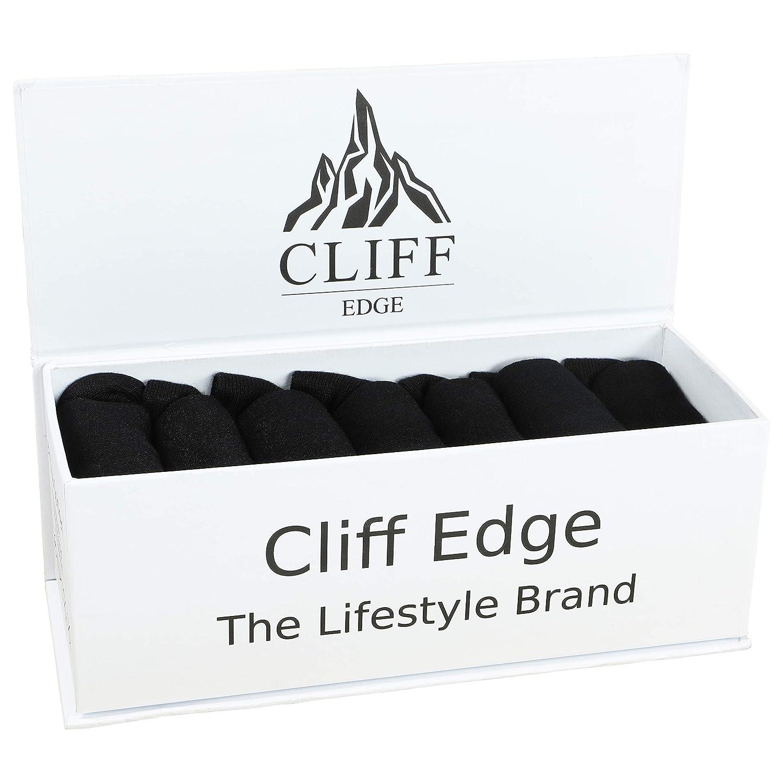 Cliff Edge ® 7 Paar seidig weiche Bambus Socken mit Premium