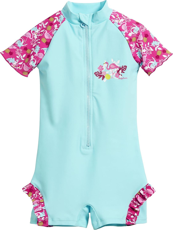 Playshoes UV-Schutz Einteiler Flamingo, Costume da Bagno Bimba 461201