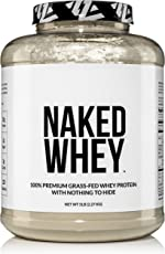 Naked WHEY 5LB 100% Grass Fed Unflavored Whey Protein Powder -