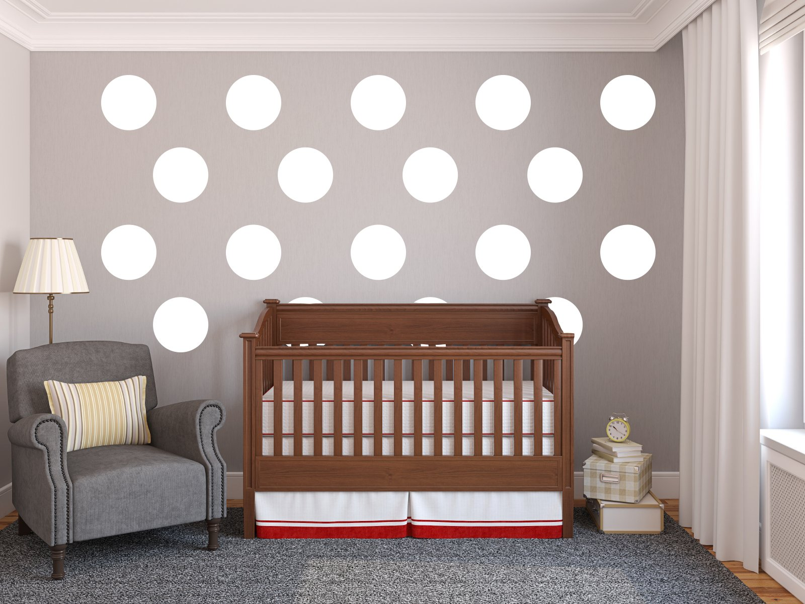Large Wall Polka-Dots (18-12'') - Vinyl Wall Art Decal for Homes, Offices, Kids Rooms, Nurseries, Schools, High Schools, Colleges, Universities