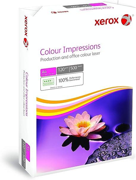 Xerox 003R98685 - Paquete de folios para impresión a color (A4, 120 g/m², 500 hojas), color blanco: Amazon.es: Oficina y papelería
