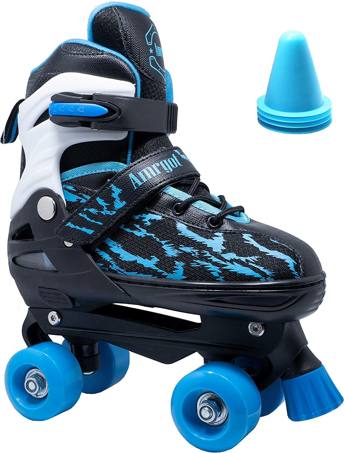 WiiSHAM Fun Roll Adjustable Roller Skates with Four Piles