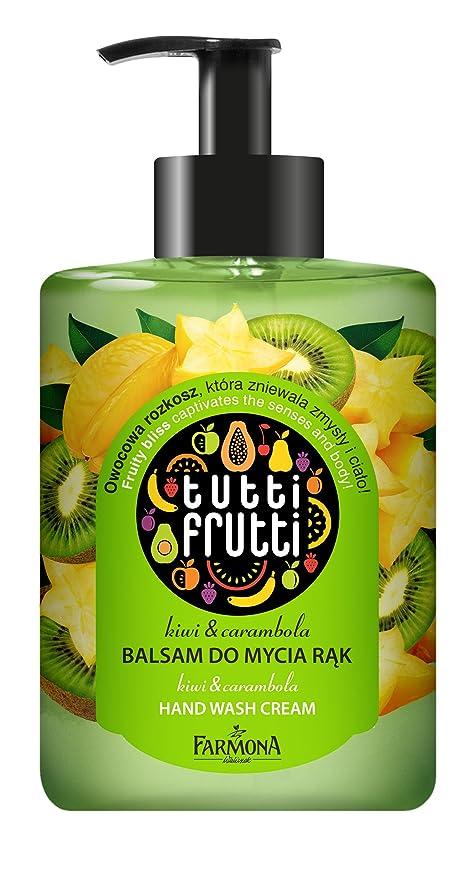 Jabón de manos Tutti Frutti mano Loción de lavado Kiwi & Estrella de frutas, Cremoso