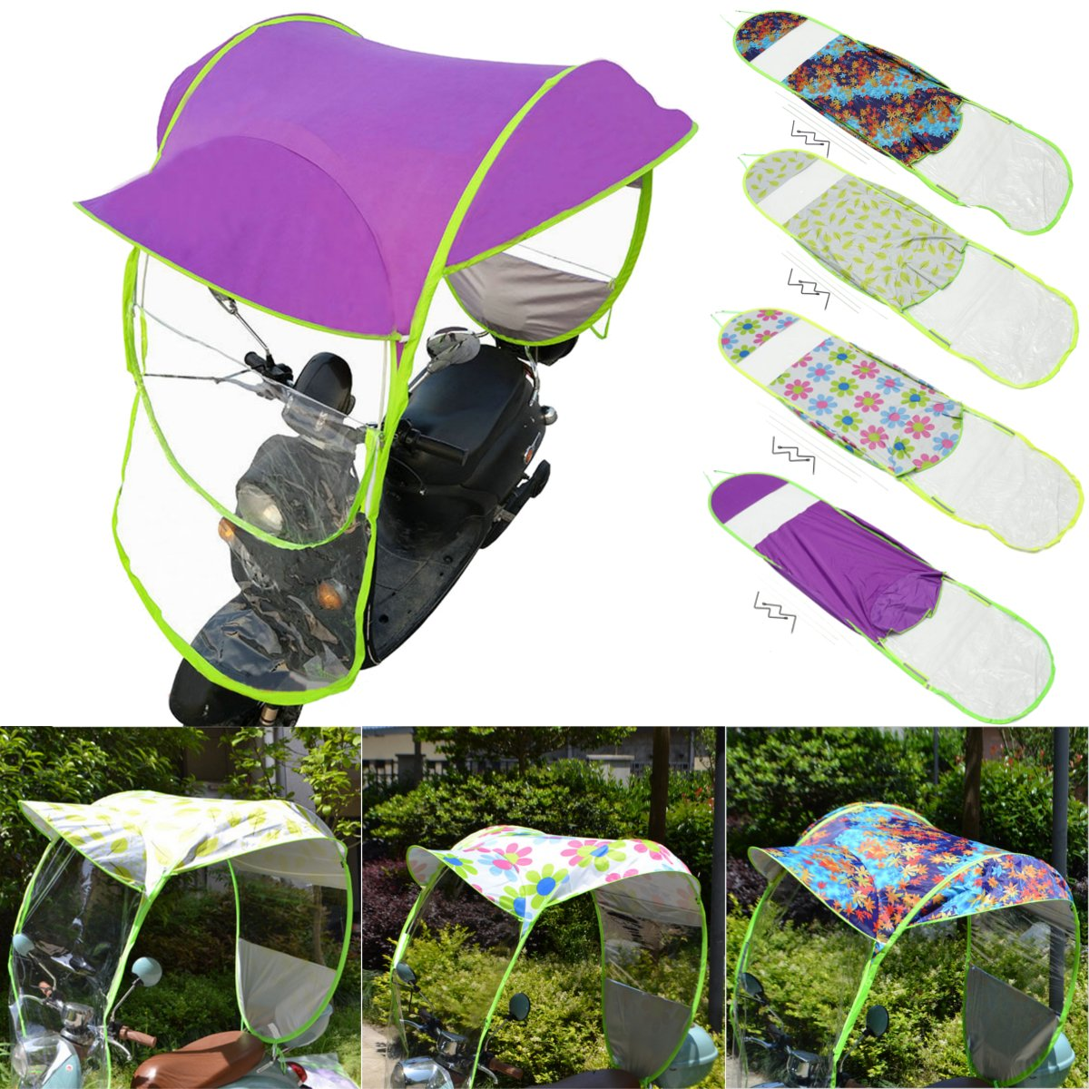 Amazon.com: Automotive Universal Motor Scooter Umbrella Mobility Sunshade & Rain Cover Waterproof - (NO.: 03#): Cell Phones & Accessories