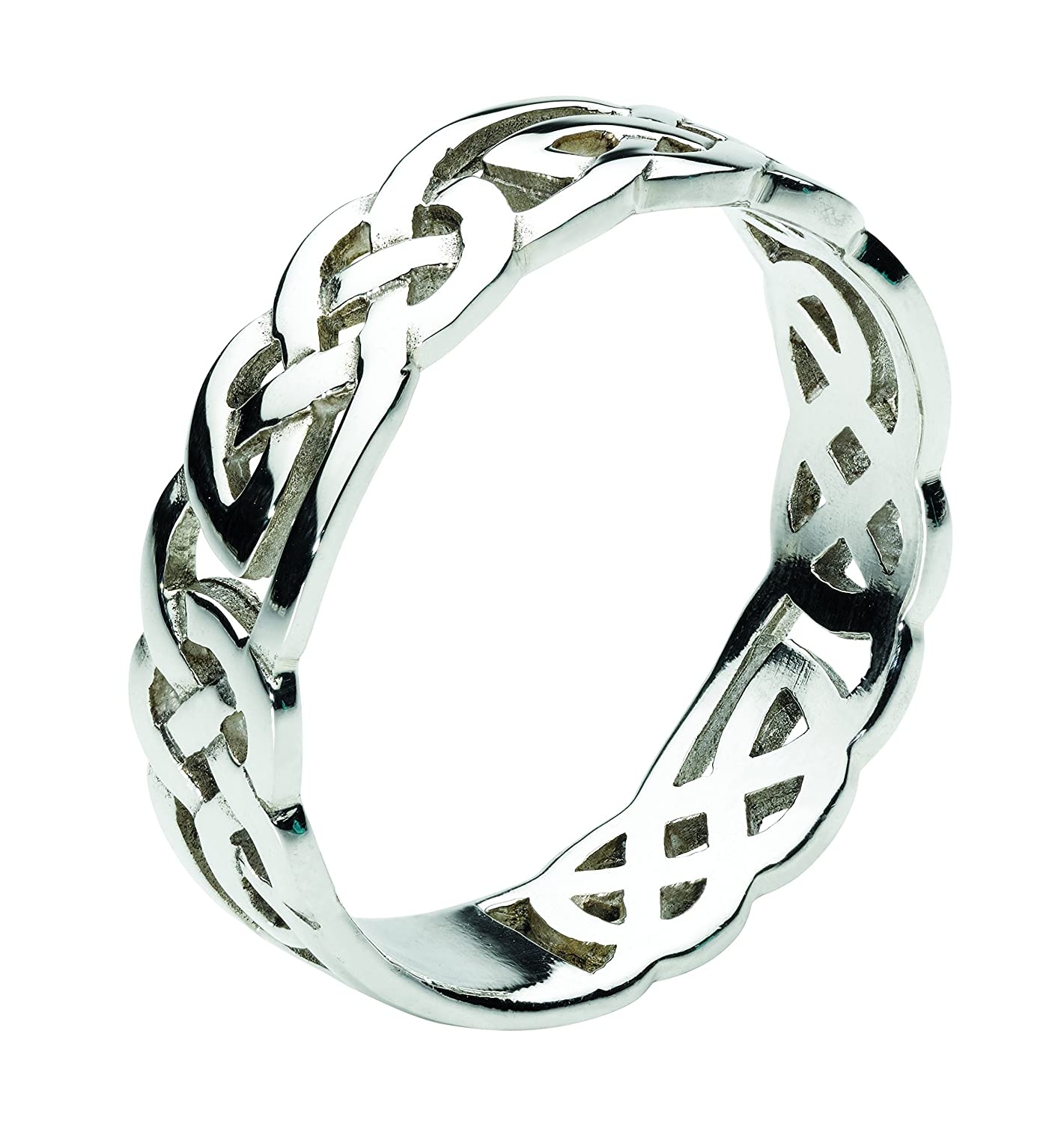 Heritage Women s Sterling Silver Celtic Open Knotwork Ring Amazon