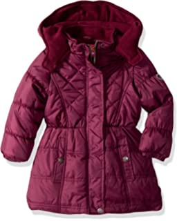 561f68bc Amazon.com: Pink Platinum Girls' Long Puffer Coat: Clothing