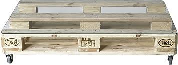 Pufymas Mesa Palet Europeo, Madera, Natural, 120x80x25 cm, 6 ...