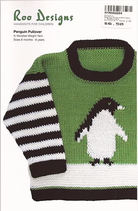 Amazon Com Roo Designs Child S Penguin Pullover Knitting Pattern
