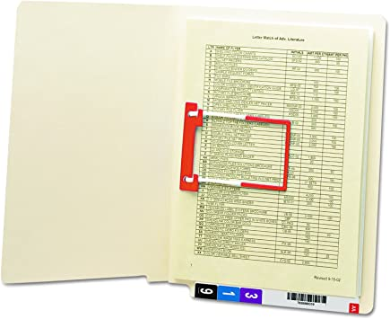 Shelf-Master Reinforced Straight Smead Heavyweight End Tab Fastener File Folder