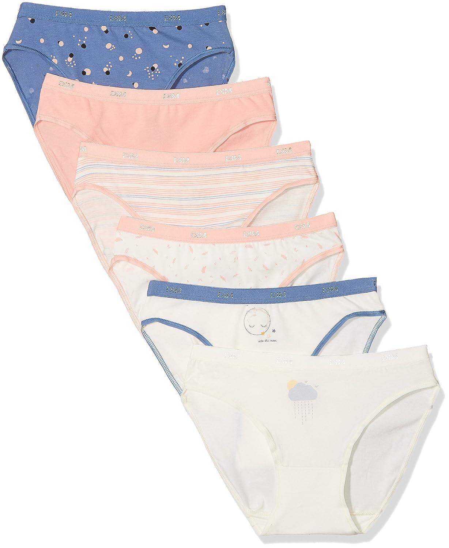 Dim Les Pockets Coton Slip X6, Mutandine Donna (Pacco da 6) 4C17