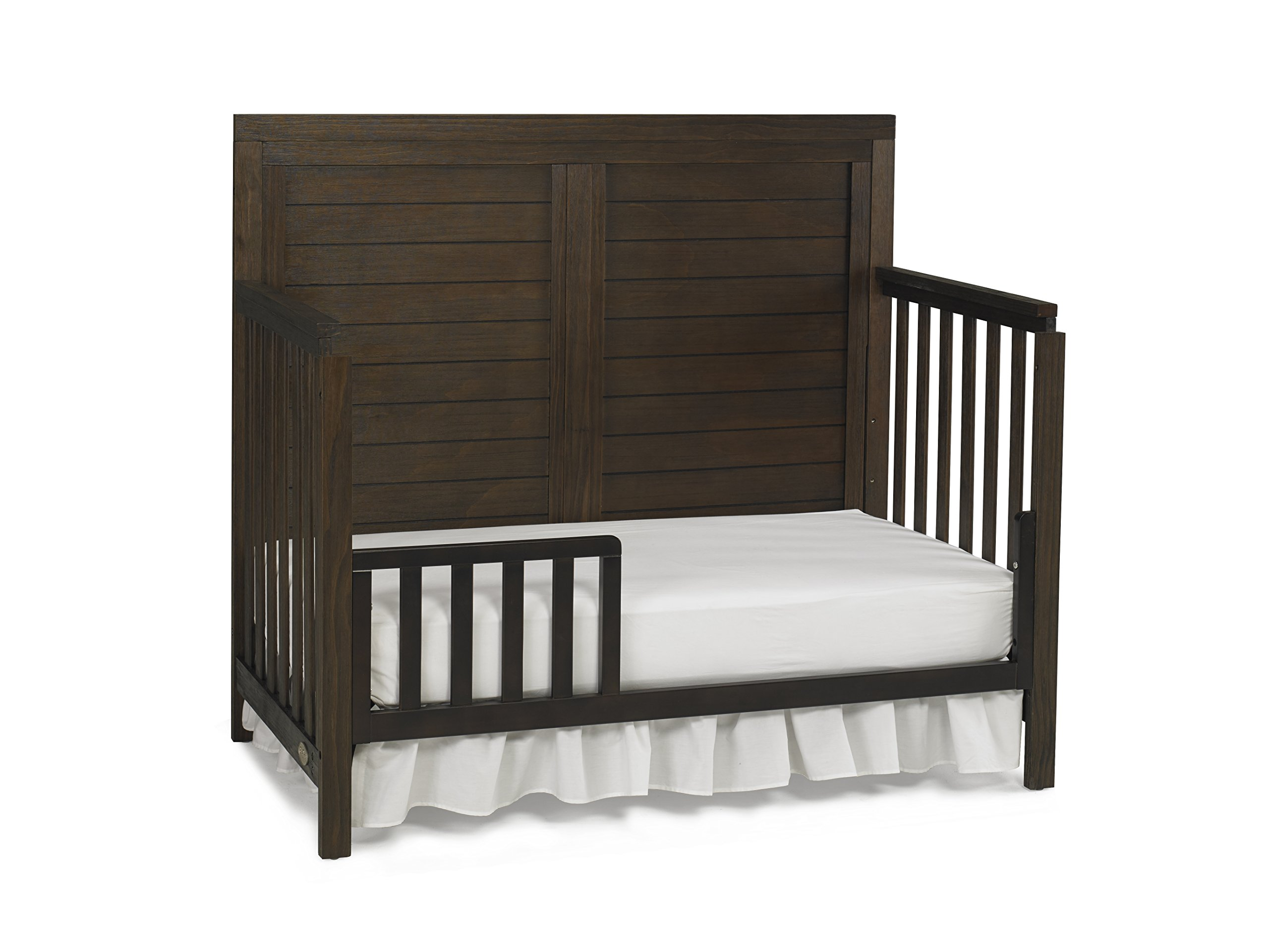Ti Amo Castello 4 in 1 Convertible Crib, Wire Brushed Brown by Tiamo (Image #6)