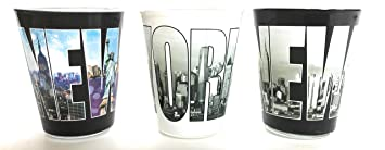Nueva York vasos de chupito por Jay Joshua, Set de 3, nueva york recuerdos