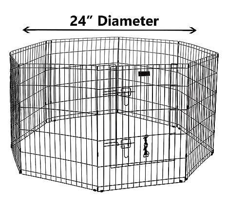 Amazon.com : Ultimate Folding Dog Animal Pet Playpen Wire Metal 8 ...