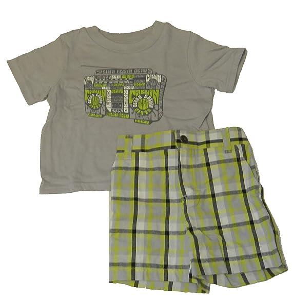 077d46ca Amazon.com: Calvin Klein Jeans Boy's 2pc Shirt & Shorts (12M ...