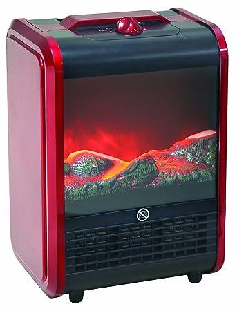 Amazon.com: Comfort Zone Mini Ceramic, Electric Fireplace Stove ...